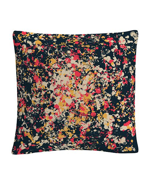 "Baldwin Speckled Colorful Splatter Abstract 1 16x16"" Decorative Throw Pillow by ABC"