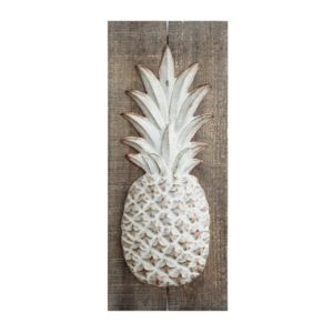 Image of Embossed Metal Pineapple Wall Decor