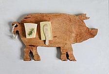 Pig Shaped Wood Cutting Board