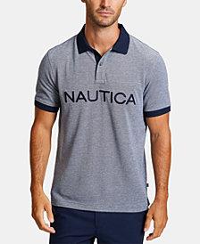 Nautica Men's Logo Oxford Polo