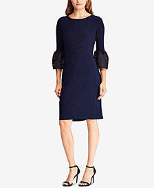 Lauren Ralph Lauren Bell-Sleeve Dress, Created for Macy's