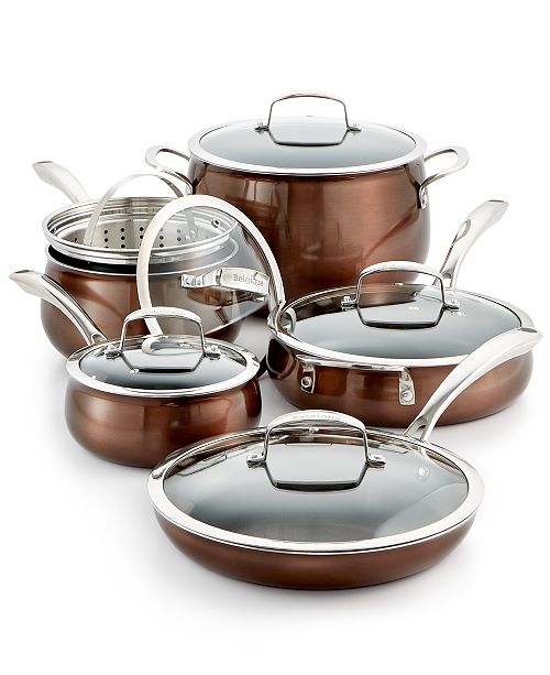 Belgique CLOSEOUT! Aluminum 11-Pc. Cookware Set, Created for Macy's