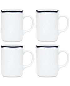 Dansk Allegro Blue Mugs, Set of 4
