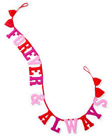 CLOSEOUT! Martha Stewart Collection Valentine's Day Forever & Always Garland, Created for Macy's