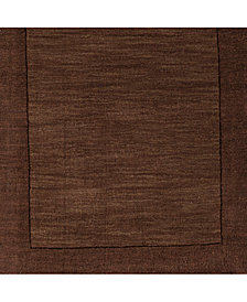 "Surya Mystique M-294 Dark Brown 18"" Square Swatch"