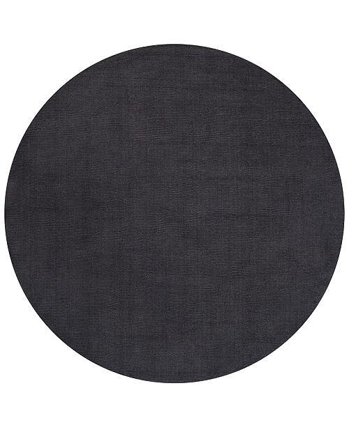 Surya Mystique M-341 Charcoal 6' Round Area Rug