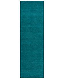 "Surya Mystique M-5330 Teal 2'6"" x 8' Area Rug"