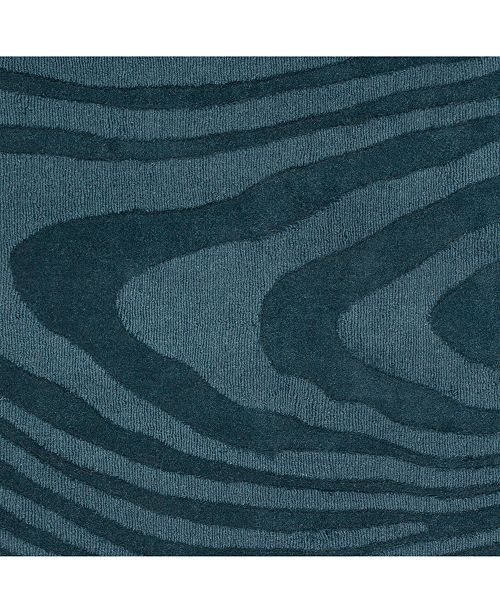 "Surya Mystique M-5463 Charcoal 18"" Square Swatch"