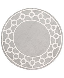 "CLOSEOUT!  Horizon HRZ-1062 Medium Gray 7'10"" Round Area Rug"