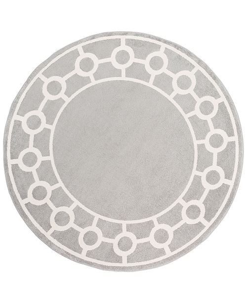 "Surya CLOSEOUT!  Horizon HRZ-1062 Medium Gray 7'10"" Round Area Rug"