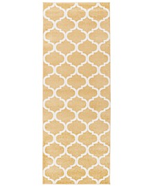 "CLOSEOUT!  Horizon HRZ-1077 Wheat 2'7"" x 7'3"" Area Rug"