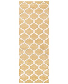 "CLOSEOUT! Surya  Horizon HRZ-1077 Wheat 2'7"" x 7'3"" Area Rug"