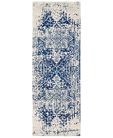 "Harput HAP-1021 Dark Blue 2'7"" x 12' Area Rug"