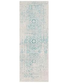 "Harput HAP-1026 Teal 2'7"" x 7'3"" Area Rug"