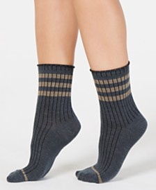 Lemon Noble Ribbed Crew Socks