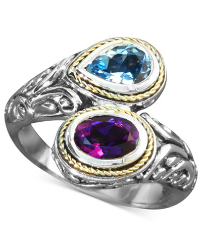 Balissima By Effy Blue Topaz 3 4 Ct T W And Amethyst
