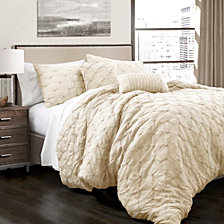 Ravello Pintuck 5-Piece King Comforter Set