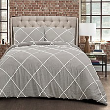 Diamond Pom Pom 3-Piece Comforter Sets