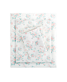 Madison Park Floral California King Comfort Wash Cotton Sheet Set