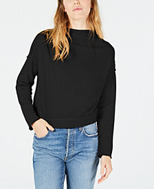 Free People Cotton Exposed-Seam Sweater