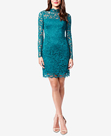 Betsey Johnson Mock-Neck Lace Dress