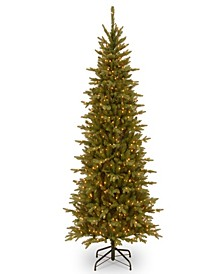 7 .5' Feel Real(R) Sierra Spruce Slim Hinged Tree with 650 Clear Lights