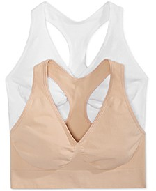 2-Pk. Ultimate Comfy Support Wireless Bras DHHUT1