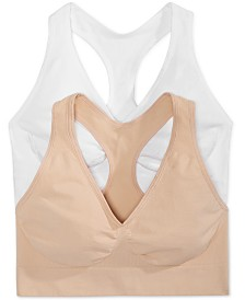 Hanes 2-Pk. Ultimate Comfy Support Wireless Bras DHHUT1