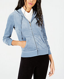Juicy Couture Embellished Velour Hoodie