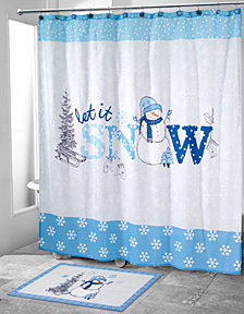 CLOSEOUT! Avanti Let It Snow Shower Curtain