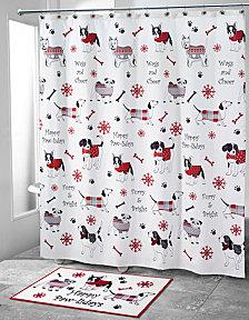 Avanti Happy Pawlidays Shower Curtain