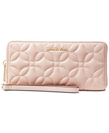 MICHAEL Michael Kors Quilted Floral Travel Continental Wallet