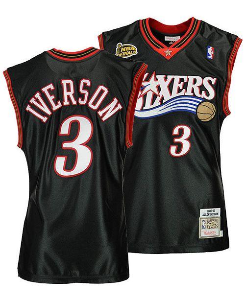 newest 10eb7 8eec0 Men's Allen Iverson Philadelphia 76ers Authentic Jersey