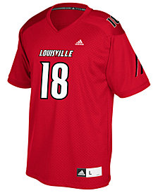 adidas Louisville Cardinals Replica Football Jersey, Big Boys (8-20)