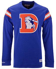 Mitchell & Ness Men's Denver Broncos Team Captain V-Neck Long Sleeve T-Shirt