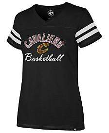'47 Brand Women's Cleveland Cavaliers Metallic Dinger V-Neck T-Shirt