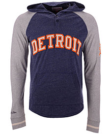 Mitchell & Ness Men's Detroit Tigers Slugfest Lightweight Hooded Long Sleeve T-Shirt