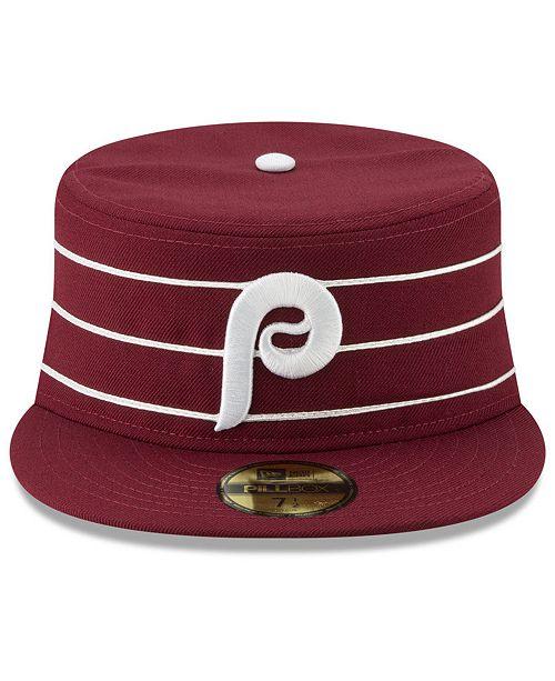 New Era Philadelphia Phillies Pillbox 59FIFTY-FITTED Cap - Sports ... faf0a15fd1f