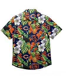 Forever Collectibles Men's Chicago Bears Floral Camp Shirt