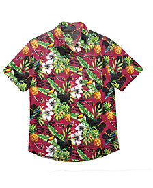 Forever Collectibles Men's Arizona Cardinals Floral Camp Shirt