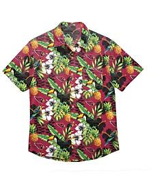 Forever Collectibles Men's Arizona Cardinals Floral Camp Shirt