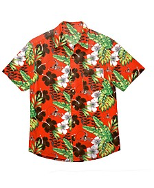 Forever Collectibles Men's Cleveland Browns Floral Camp Shirt
