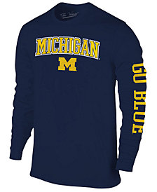 Colosseum Men's Michigan Wolverines Midsize Slogan Long Sleeve T-Shirt