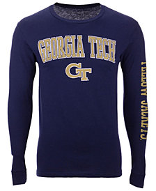 Colosseum Men's Georgia-Tech Midsize Slogan Long Sleeve T-Shirt