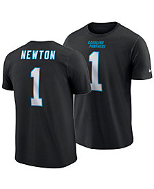 Nike Men's Cam Newton Carolina Panthers Pride Name and Number Wordmark T-shirt