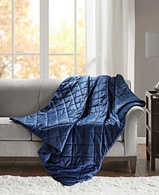 Luxury 18lb Quilted Mink Weighted Blanket