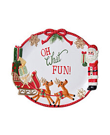 Fitz and Floyd Toyland Cookie Platter