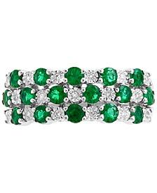 EFFY® Emerald (1 ct. t.w.) & Diamond Accent Ring in 14k White Gold
