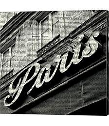 Newsprint Paris by Marc Olivier Canvas Art