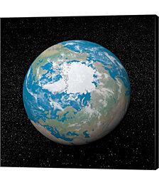 3D Rendering of Planet Earth Centered on The North Pole by Elena Duvernay,Stocktrek Images Canvas Art